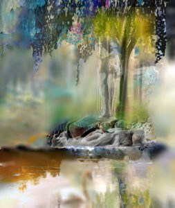 Abstract Contemproary Art titled Humanity and Natures Gift by Todd Krasovetz with Blur Watermark