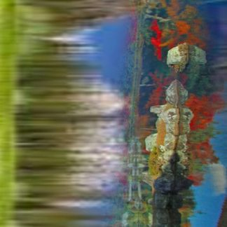 Los Angeles Abstract Art Titled Nature Colors and Trees by Todd Krasovetz